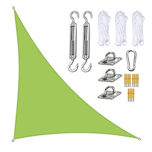 QDY -Toldo Parasol De 3 X 4 X 5 M, Toldo De Bloque UV, Toldos De Sombra De Jardín En Ángulo Recto con Kit De Fijación, Toldos De Sombrilla para Jardín Al Aire Libre,6 Green