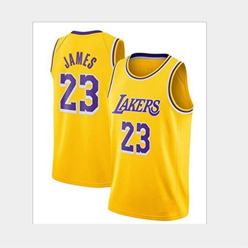 GUOJIUXIAO Uniforme de Baloncesto, Lebron James # 23 Lakers, Uniforme de Entrenamiento de Competencia, Nueva versión de la Ciudad/versión Retro Jersey, Unisex Sin Mangas Bordado Floral Jersey