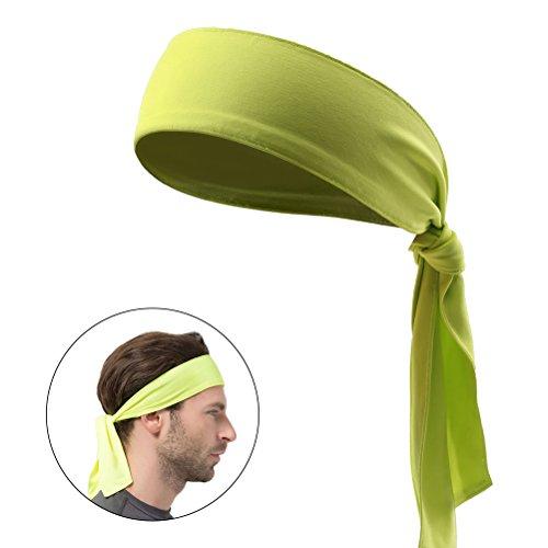 frcolor Tête Cravate Sport Bandeau Cravate pour les hommes et les femmes de la sueur bandeau tête Cravates Idéal pour courir ausarbeiten Tennis Karaté d'Athlétisme