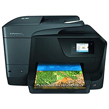 HP OfficeJet Pro 8710 All-in-One Wireless Printer HP Instant Ink or Amazon Dash replenishment ready  M9L66A  Black