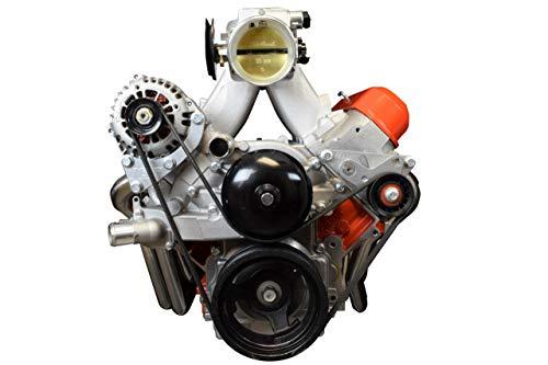 ICT Billet 5.3L 6.0L LS Truck Turbo Alternator and Tensioner only Relocation Bracket LSX (uses LS1 or Camaro LS3 water pump) 551573-3