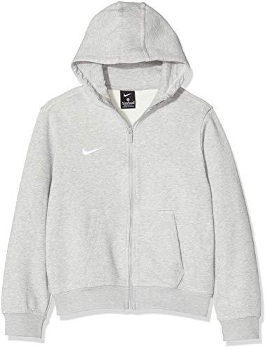 Nike Kinder Sweatshirt Team Club Full Zip Kapuzenjacke,Grau (Grey Heather/Grey Heather/Football White), M