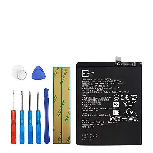 Upplus HB386280ECW Batería de repuesto compatible para Huawei P10 Honor 9 con kit de herramientas