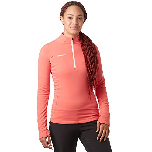 Mammut Camiseta M/L Moench Advanced Half Zip Manga Larga, Mujer, Barberry, XL