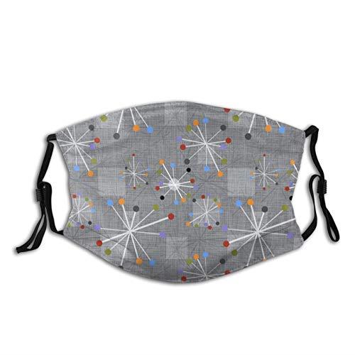 Reebos Reloj unisex con diseño de estrellas modernas de Ma-sk de mediados de siglo con cara gris con bucle de ajuste para la oreja, lavable, para exteriores, deportes, ir de compras