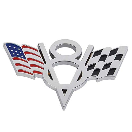 turkeybaby Auto Aufkleber, Metall V8 USA Amerikanische Flagge Auto Emblem Abzeichen Aufkleber Aufkleber Für Ford Chevrolet US Flagge
