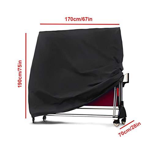 Seasons Shop Tischtennisplatte Abdeckung 210T Oxford Gewebe Schutzhülle Wasserdicht UV Beständig Hülle Für Tischtennisplatten Ping Pong Tisch Für Außen/Innen stylish