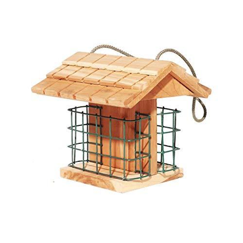 Futterstationszubehör Ohio-Papageien-Vogel-Stations-Ausgangsgarten-im Freien hölzerner roter Cedar Decorative Bird Food Box Tiernahrungsspender