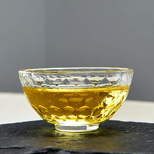 Glaseres Taza de té de Cristal con diseño de Martillo de Gafas, Taza Doble Vaso de Cristal (65 ml).