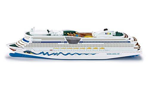 siku 1720 Crucero AIDAluna, Diseño AIDA, No flota, 1:1400, Metal/Plástico, Azul/Blanco