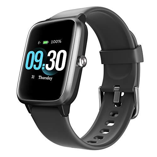 Smartwatch Herren, 1.3 Zoll Voll Touchscreen Fitnessuhr mit Pulsuhr IP68 Wasserdicht Sportuhr Schrittzähler Schlafmonitor Musiksteuerung Fitness Tracker Smart Watch für iOS Android