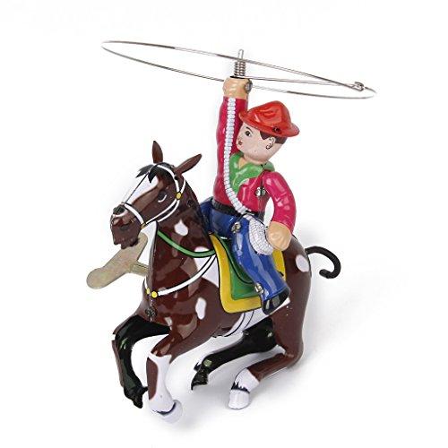 sharprepublic Vintage Resorte Juguete Modelo Vaquero con Látig Regalo Adulto Colección Cowboy