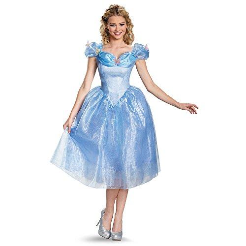 Disguise Womens Women's Deluxe Cinderella Movie Fancy dress costume Larg