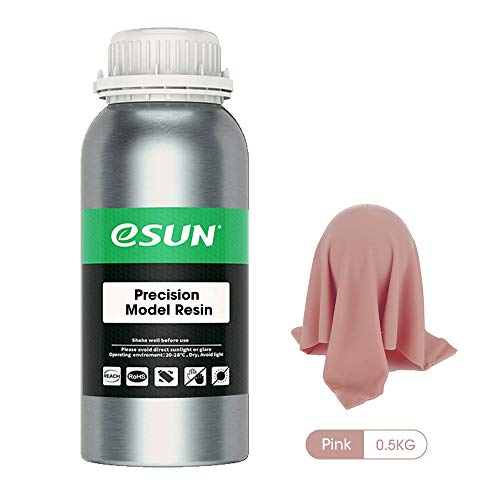 eSUN LCD UV 405nm 3D Printer Red Wax Rapid Resin High Precision Resin for Photon UV Curing LCD 3D Printer Photopolymer Resin Liquid 3D Printing Materials, 500ml Natural
