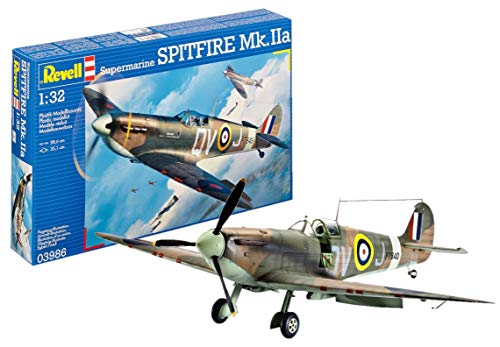 Revell- Supermarine Spitfire MK.IIa Kit di Montaggio, Multicolore, 286 mm, 03986
