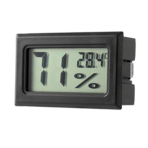 Heaviesk Digitaler Thermometer Hygrometer Mini Temperaturmesser Indoor Digital LCD Display Sensor