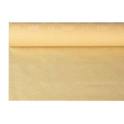 PAPSTAR 18587 Papiertischtuch mit Damastprägung 8 x 1.2 m, Creme