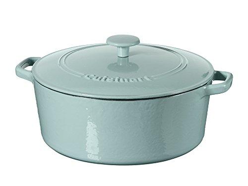 Cuisinart Casserole Cast Iron, Light Blue, 7 quart