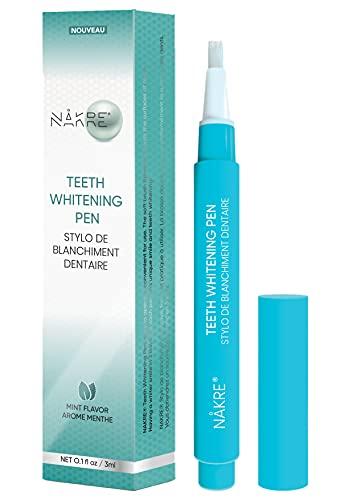 NAKRE® Nouveauté ! Stylo de blanchiment dentaire, Plus de 30 utilisations, Efficace, Aucune sensibilité, Facile à transporter, Facile d'utilisation, Un sourire éclatant, Arôme naturel de menthe
