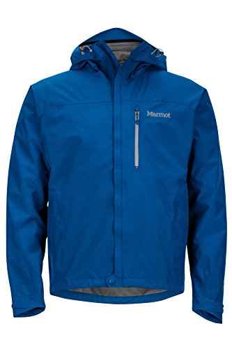 Marmot Men's Minimalist Lightweight Waterproof Rain Jacket, GORE-TEX with PACLITE Technology, Blue Sapphire, Small