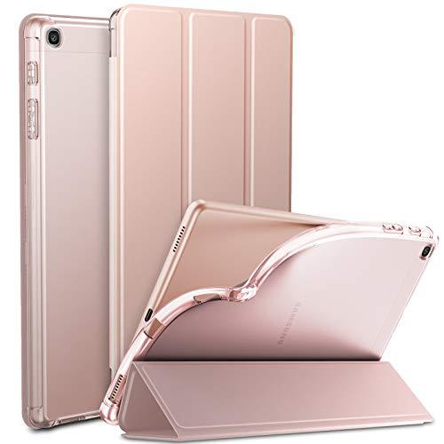 INFILAND Hulle fur Samsung Galaxy Tab A 101 2019 Superleicht Transluzent TPU Schutzhulle Case kompatibel mit Galaxy Tab A 2019 T510T515 101 ZollRosa Goldene