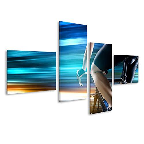 bilderfelix® Bild auf Leinwand Rennrad Wandbild, Poster, Leinwandbild KNU