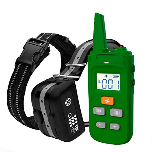 Dog Training Collar with Remote - Rechargeable 2000 ft Long-Range & Flashlight Shock Collar for Dogs - 99 Adjustable Vibration, Shock lvls - Waterproof for Small, Medium, Large Dogs, All Breeds