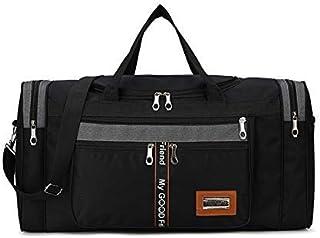 Large Capacity Fashion Travel Bag for Man Women Weekend Bag Big Capacity Bag Nylon Portable Travel Carry Luggage Bags XA156K (Color : Black, Size : -)