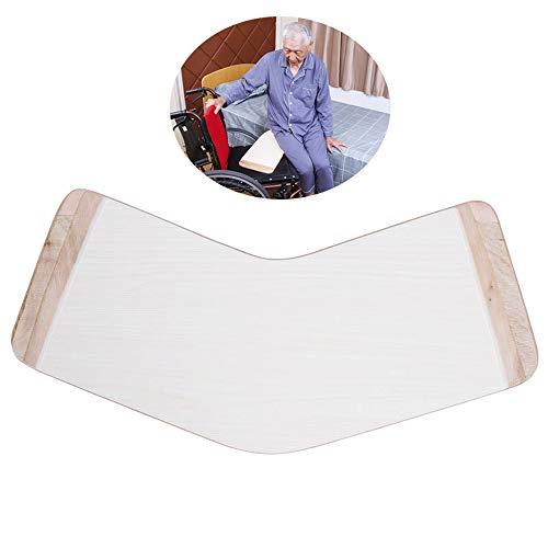 LOVEHOUGE Tablero de transferencia de madera de diapositivas, tabla de transferencia bariátrica resistente para transferencias de personas mayores y minusválidos