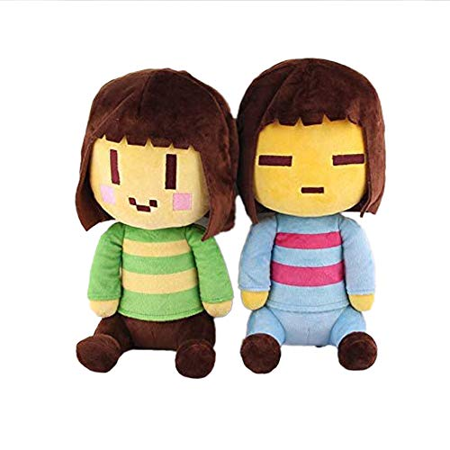 2PCS Undertale Plush Stuffed Toy - Frisk and Chara Plush Doll 10 Inches