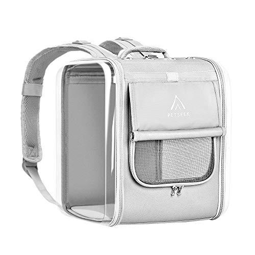 Petseek Cat Backpack Carrier Large Pet Backpack Carrier, Ventilated Design Dog Backpack...