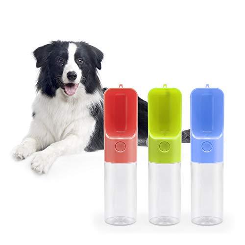 Aidodo Tragbare Haustier Wasserflasche, 450ML Hund Katze Trinkflasche, BPA-Frei Auslaufsicher Hundetrinkflasche f¨¹r Camping, Spaziergang, Wandern, Training, Unterwegs Outdoor(Blau)