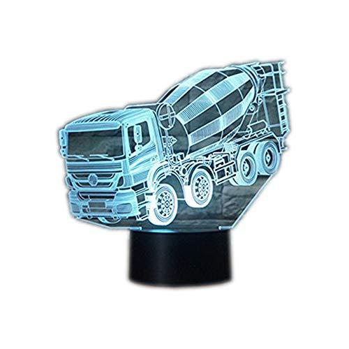 Preisvergleich Produktbild Ahat Romantische 3D Led Illusion Tisch Schreibtisch Deko Lampe 7 Farben ändern Nacht Licht für Schlafzimmer Home Decoration,  Hochzeit,  Geburtstag,  Weihnachten und Valentine Geschenk(Ton Tanker)