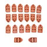 20 Stück Mini Boot Modell Landschaft Miniatur Puppenhaus Deko Diy Handwerk - s