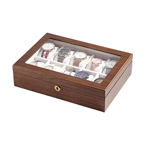 Lilac Fower Shop Lamp Reloj Caja De Almacenamiento Caja De Almacenamiento De Pantalla De Madera (Color : A)
