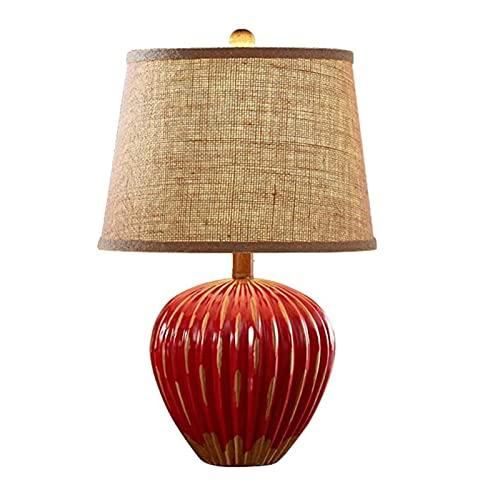Lampe de Chevet Lampe de bureau Lampe de table pour salon Rustique Céramique Lampe de chevet Céramique Romantique Simple Lampe de table...