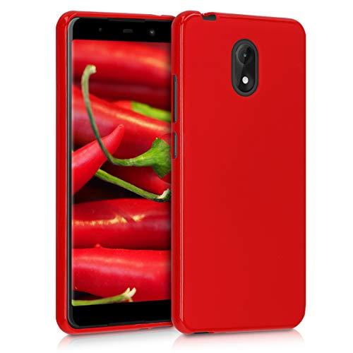 kwmobile Hülle kompatibel mit Wiko Lenny 5 - Handyhülle - Handy Hülle in Rot matt