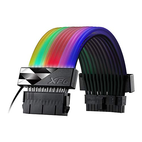 XPG PRIME ARGB EXTENSION CABLE - MB 24pin電源延長ケーブル [ アドレッサブルRGB LED 36灯搭載 ] ARGBEXC...