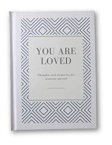 Gratbook You Are Loved Book, Personalized Why I Love You book, Easy Prompts to get your feelings on paper, Perfect for Mom, Wife, Sister, Boyfriend, Loved One, Quality Hardcover, 5 in x 7 in (White)