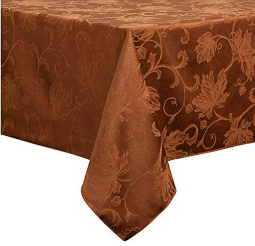 Bed Bath and Beyond Autumn Vine Damask 60 Inch by 120 Inch Tablecloth in Formal Bronze