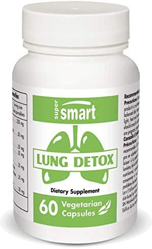 Supersmart Lung Detox Natural Formulation with Quercetin Bromelain Tumeric Curcumin N Acetyl product image