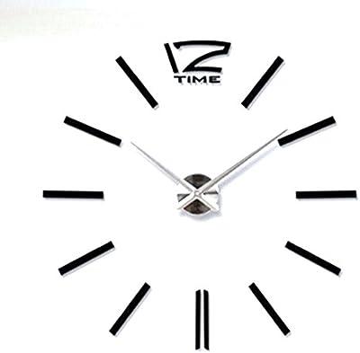 RUEbahl 3D Home Decor DIY Digital Large Wall Clock Modern Design Horloge Wall Watch Living Metal