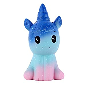 Anboor 4.9 Inches Squishies Unicorn Galaxy Kawaii Soft Slow Rising Scented Animal Squishies Stress Relief Kids Toys…