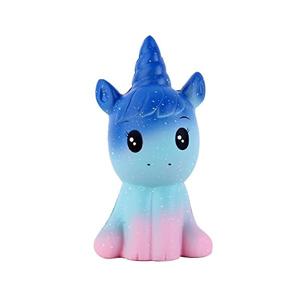 Anboor 4.9 Inches Squishies Unicorn Galaxy Kawaii Soft Slow Rising Scented Animal Squishies Stress Relief Kids Toys… 3