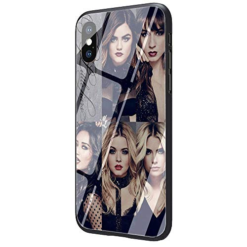 YZTEVXWE PLL Tempered Glass Hard Back Soft Edge TPU Black Phone Cases Cover iPhone 7 Plus Case/Cover iPhone 8 Plus Case