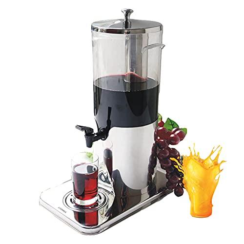 MNSSRN Dispensador de Bebidas, Máquina de Bebidas frías de Vino y Máquina de Jugo 5L Capacidad Grande, Acero Inoxidable Utilizado en Fiestas de Cocina Hotel Cafeterias,1