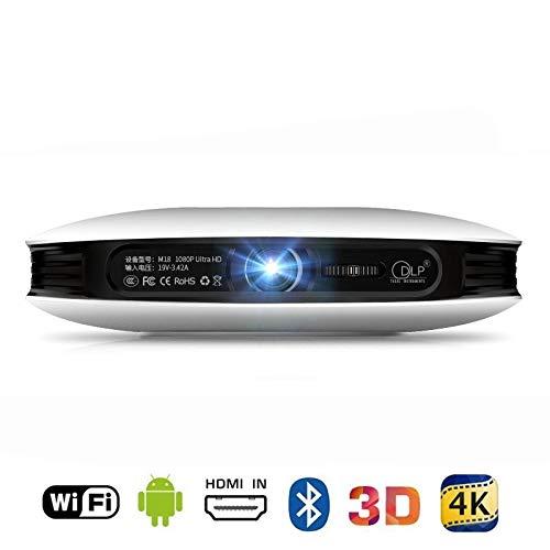 ZZKK 1080P 3D 4K projector, Android WiFi HDMI USB Full HD mini spel PC thuisbioscoop Proyector 12000mAh accu beamer