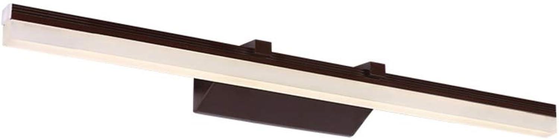 HoaLit Badezimmer Spiegellampe Led Wandleuchte, 12w Neutral Wasserdicht Wandlicht Moderne Einfache Wandlampe Schlafzimmer Innen-braun 60cm