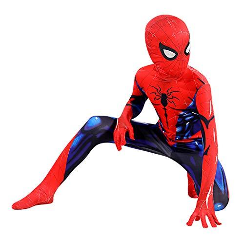 GYMAN Spiderman Muscular Trajes De Cosplay Niños para Niños De Impresión En 3D Mono Mono De Halloween Carnaval Superhero Elegante Traje De Bodies Traje del Partido,Kids/100~110cm