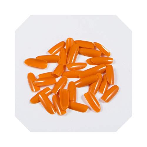 500pcs / pack ongles multicolores à couverture complète ovales faux ongles-5-